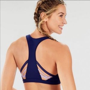 FABLETICS | Navy Blue Strappy Back Sports Bra 2X